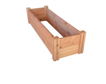 "GroGardens 1' x 4' x 11"" Redwood Raised Garden Bed (FREE SHIPPING)"