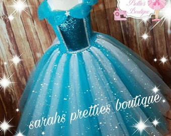 Frozen blue ice queen snowflake  princess inspired tutu dress