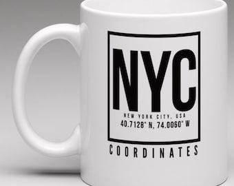 New York City (NYC) Coordinates mug
