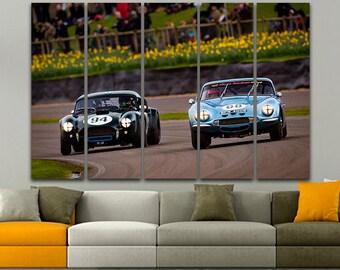 Racing car Canvas Print art Sports car Racing car print Racing car art Racing car canvas Racing car decor Modern decor Printable art Photo