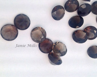 Smoky Quartz 5mm Faceted Gemstone 2 in pkg