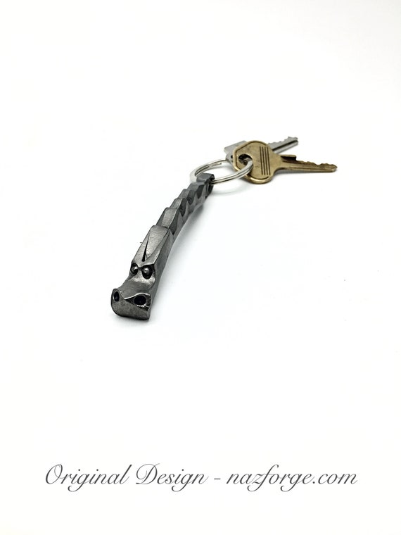 DRAGON KEYCHAIN Hand Forged and signed by Blacksmith Naz - Custom - Personalization Option Available - Unique & Original Design by Naz