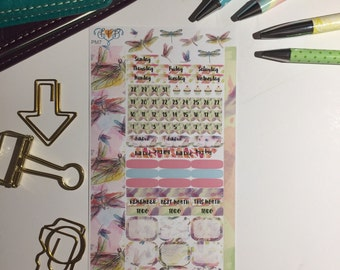 Dragonfly personal monthly sticker kit, planner supplies, monthly planner stickers, personal sticker kit, sticker kit, PM7