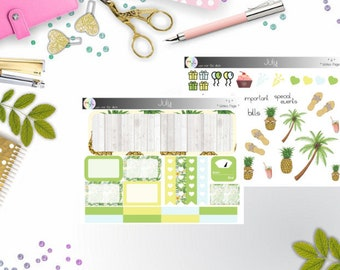 notes page - July (Happy Planner Stickers)