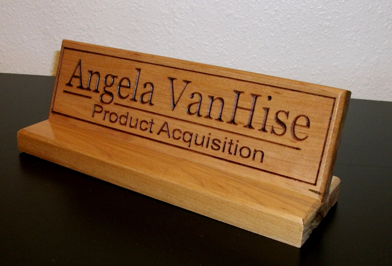 plaque signal tique de bureau personnalis bureau nom. Black Bedroom Furniture Sets. Home Design Ideas