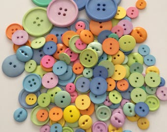Pastel Craft Buttons