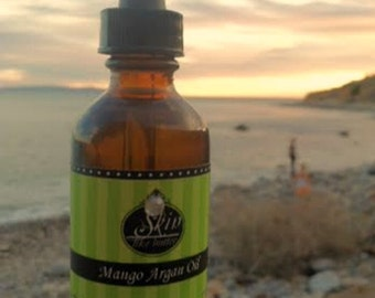 Mango ORGANIC ARGAN OIL || Cold Pressed || Available in a 2 or 4 oz glass bottle || Luxurioius Body Oil  and Hair Oil