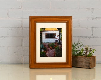 "8.5 x 11"" Picture Frame in Diplomat Style with Vintage Roman Gold Finish - IN STOCK - Same Day Shipping - 8.5x11 inch Frame Metallic"