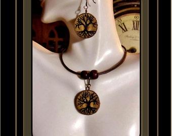 tree jewelry  -  Tree of Life - bohemian -wife gift - girlfriend gift  -  dauther gift - tree lovers jewelry - wood - ZEN jewelry