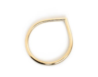 DROP S - fine 8kt gold ring