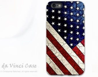American Flag iPhone 6s Plus Case - US Flag iPhone 6 Plus Case - Stars & Stripes - Red White and Blue iPhone 6 Plus Cover - Dual Layer Case