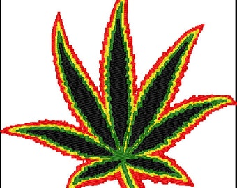 Weed Embroidery Design