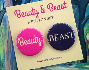 Beauty & Beast Button Set