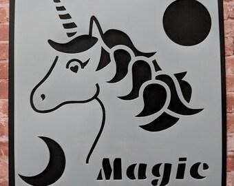 Unicorn Magic stencil / mask by Imagine Design Create