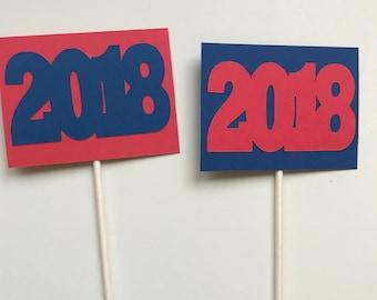 Graduation Centerpieces, Class Reunion Centerpieces, Class of 2018 Centerpieces, 2018 Decorations, 2018 Party Decorations, Graduation Decor