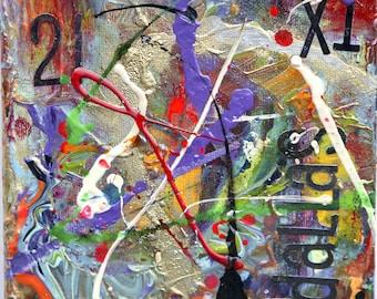 X21. Original Painting - Original Art - abstract acrylic painting - 6x6 PAINTING - square canvas - Original ARTWORK - Square  Painting