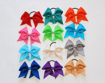 Small Tick Tock Solid Color Hair Bows