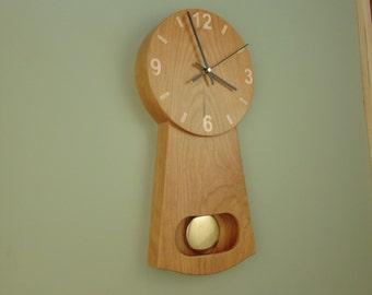 Cherry Pendulum Clock- Made to Order
