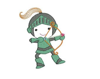 Instant download machine  embroidery design Knight