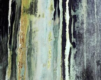 Mint & Black Abstract Art, Industrial Art, Verdigris Photo, Gold Slate Gray Wall Decor, Textured Print, Abstract Photography,Teal Stripe Art
