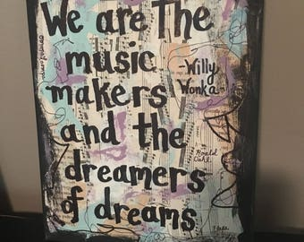 Willy Wonka Charlie and the chocolate factory Gene wilder Music Art book painting singer musical theater theatre singer gift mixed PRINT