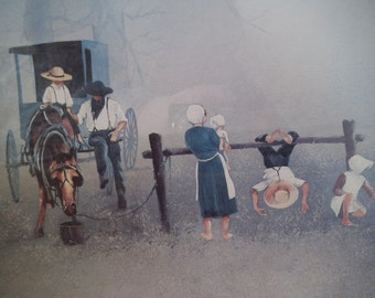Steve Polomchak, Signed Amish Print - Beautifully Framed