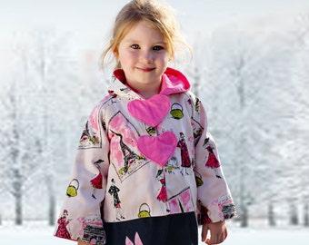 Jacket Patterns, Coat Patterns, Girls Jacket Pattern, Girls Sewing Patterns, PDF Sewing Patterns, Kids Pattern, Hoodie Patterns, LOVE Hoodie