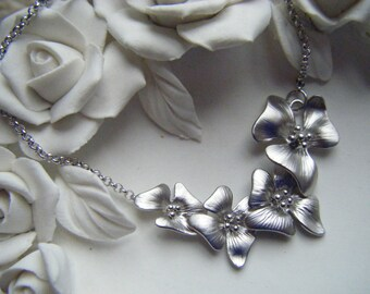 Silver flower bracelet, dainty bracelet, simple bracelet, silver bracelet, simple jewelry, everyday jewelry uk seller
