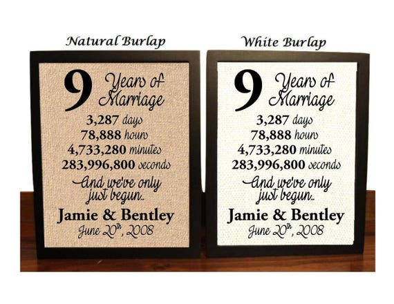 Gift For 13th Wedding Anniversary: 9th Anniversary 9 Year Anniversary 9th Anniversary Gift