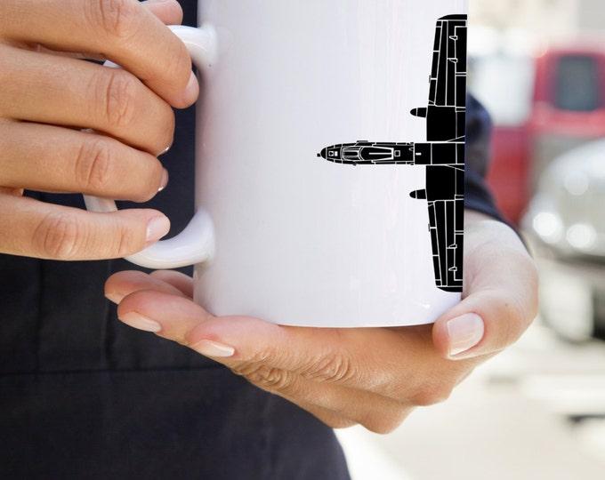 KillerBeeMoto:  U.S. Made A10 Thunderbolt (Warthog) Plane Mug (White)