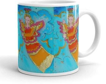 Angel mug, coffee mug, christmas mug