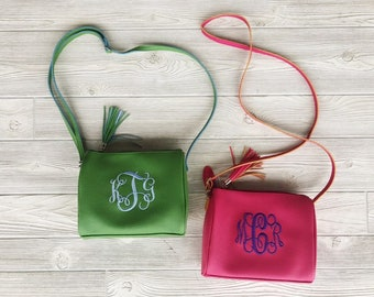 Monogrammed Crossbody Purse - Spring Fashion, Monogram Gift, Mother's Day Gift, Preppy Monogram, Summer Fashion, Hipster Bag, Colorful Purse