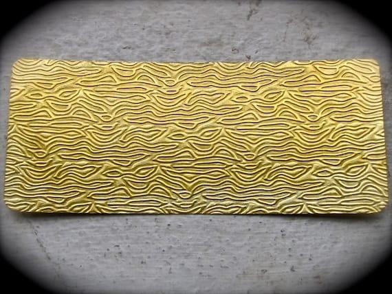 Brass Texture Plates - WAVE Pattern