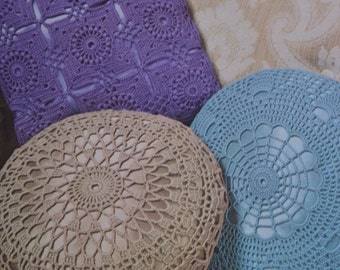 Vintage crochet cushion pattern pdf download cushion pillow covers pattern only pdf 1970s