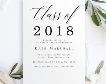 Graduation Party Invitation Etsy - Class party invitation template