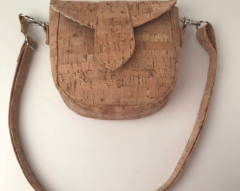 Cork Bag/Crossbody Bag/Messenger Bag/Cellphone Bag/Purse/Pouch - Natural Cork