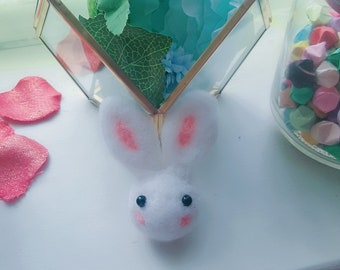 Super Cute Felt Wool Rabbit Brooch