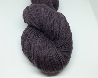 Plant Dyed Lambswool - Eggplant Organic Dyed Wool - Natural Dyed Lambswool - Natural Dyed Wool With Chocenille - Scandinavian Dyed Wool