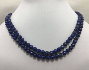 Natural Lapis Lazuli AAA Quality Smooth Round Beads, 5mm to 8mm, 18 inches, Blue Beads, Gemstone Beads, Semiprecious Beads
