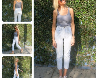 Guess Jeans - Vintage Pinstriped & Highwaisted - Guess by Marciano / Retro
