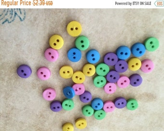 """SALE Tiny Round Buttons, Packaged Assortment by Buttons Galore, 2 Hole """"Garden"""", 2 Hole Round Buttons Style 1570, Sewing, Crafting Embellish"""