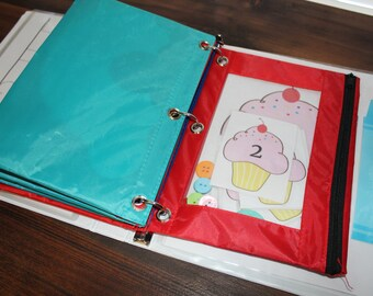 Busy Bag Binder Kit, 11 Activities, Toddler, Preschool, Early Learning, Quiet Time, Travel, Numbers, Colors, Learning to Write, Name