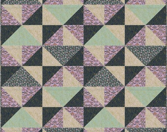 Hello There Pattern in Menagerie for Rifle Paper Company - Finished Quilt - 48x48 Precut Quilt Kit and Fabric for Binding