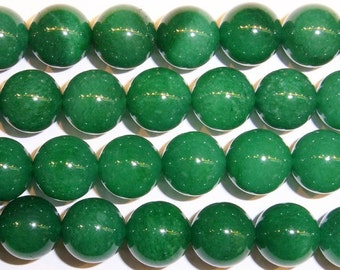8 mm Round Aventurine Beads Genuine Natural Green Dark - 15''L 38cm Loose Beads Semiprecious Gemstone Bead   Supply