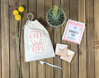 Hangover Kit Bags - Custom Oh Shit Kit bags - Bachelorette Party Favor - Custom Bachelorette Party Bags - Bachelorette Hangover Kit Bags