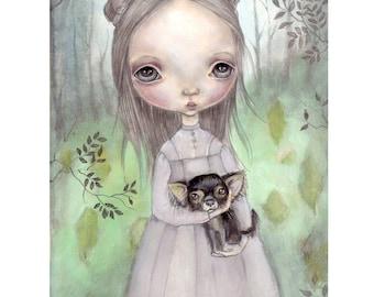 "original painting..."" forest secrets"" from ""sensations"""