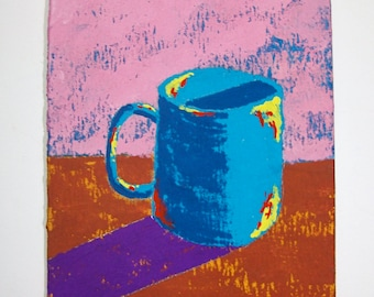 "The Morning Cup of Coffee #84 (ARTIST TRADING CARDS) 2.5"" x 3.5"" by Mike Kraus"