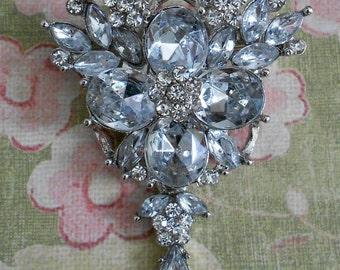 Rhinestone Floral Pins