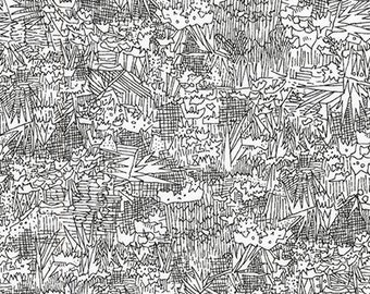 Friedlander Green Wall in Black, Carolyn Friedlander, Robert Kaufman Fabrics, 100% Cotton Fabric, AFR-16608-2 BLACK