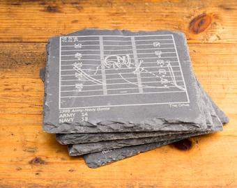 Army Greatest Plays - Slate Coasters (Set of 4)